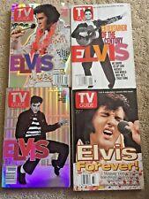 4 Elvis Presley TV Guide Magazines, 1997, 2000, 2001 & 2001  Hologram Cover