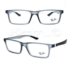 cfbc7e10db Ray Ban RB 8901 5244 Grey Transparent Carbon Fiber 53 17 145 Eyeglasses Rx