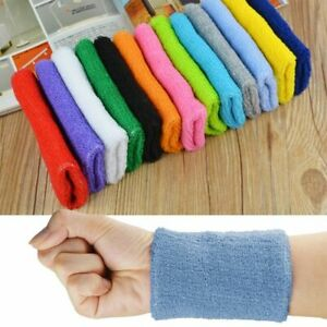 Yoga Sweatband Wristband Unisex Cotton Sweat Band Arm Band Basketball Gym