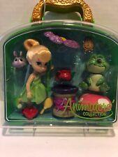 "Disney Animators Collection 5"" Tinker Bell Mini Doll Play Set Frog Flower"