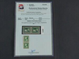 Nystamps US Stamp # 390 Mint OG NH $73 Line Pair PSE Certificate j16yt