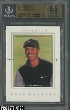 2001 Upper Deck Golf Gallery #GG4 Tiger Woods RC Rookie BGS 9.5 GEM MINT
