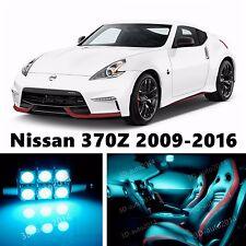 7pcs LED ICE Blue Light Interior Package Kit for Nissan 370Z 2009-2016