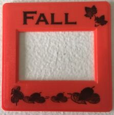 5 Red Fall Slide Mounts for Scrapbooking, Stamping, Cards, Paper Crafts