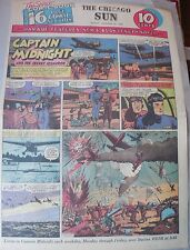 Captain Midnight Sunday by Jonwon from 11/22/1942 Large Rare Full Page Size!