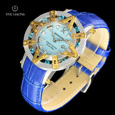 Xoskeleton 41mm Superlative Star LE Blue Paraiba Topaz MOP Leather Strap Watch