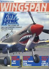 WINGSPAN MAGAZINE 1987 FEB KITTY HAWK, GLOSTER IN FINLAND, CONFEDERATE AIR FORCE