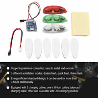 3pcs/set Drone Flash LED Wireless Light for RC Fix Wing Airplane Helicopter #GD