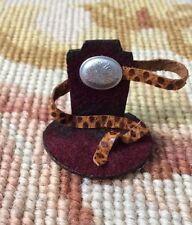 Pat Tyler Dollhouse Miniature Leather Belt Shop Shelf Cabinet Display Natural