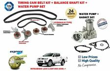 FOR MITSUBISHI L200 2.5 DID 2006> TIMING CAM BELT KIT + BALANCE SHAFT KIT + PUMP