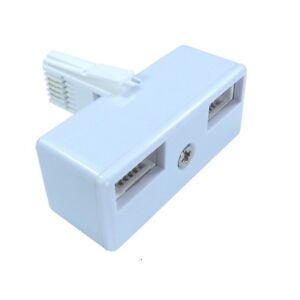 BT Telephone Phone Socket DOUBLE 2 way Adaptor Splitter