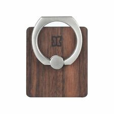 Real Wood Back Plate Cell Ring Stand-Metal Pop Up Ring 360 Rotation  MAN & WOOD