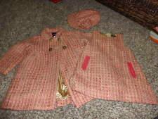 BABY GAP 6-12 COAT DRESS AND XS/S HAT GORGEOUS TWEED