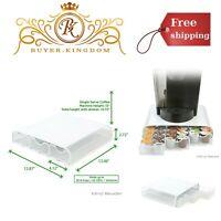 Single Serve Coffee Pod Holder Drawer 36 Capacity K Cup White Metal Mesh