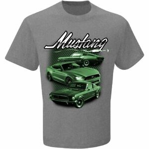 BULLITT Mustang T-Shirt - Grey. Classic & Late Model Fords On This One! Look!