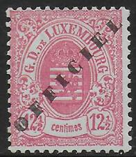 Luxembourg stamps 1875 MI Official 15II signed MLH VF