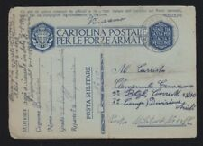 ITALY 1940s MILITARY POST OFFICE #30 CDS POSTAL STATIONERY CARD TO MPO 132