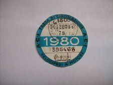 BOLLO 1980 VELOCIPEDI A MOTORE ACI AUTO D'EPOCA TASSA CIRCOLAZIONE (m26-1-14 )