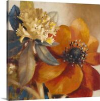 Life is Blooming Canvas Wall Art Print, Floral Home Decor
