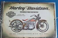 Blechschild Harley Davidson 30x20cm Neu Sammlung
