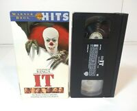 STEPHEN KING'S IT HORROR VHS TAPE TIM CURRY PENNYWISE THE CLOWN 1998 WARNER BROS