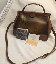 New ListingPatricia Nash Discovery Brianza Postcard Leather Frame Satchel Purse Nwt