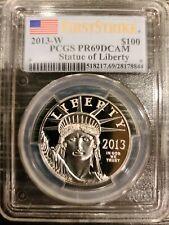 2013-W PCGS FS PR69 DCAM $100 PLATINUM LIBERTY US 1OZ. **FIRST STRIKE**