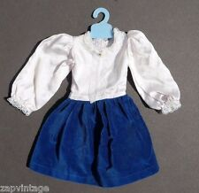 Vtg 1980's (Pret N Pretty) Dress Up Doll Play Clothes / Clothing Velvet Dress