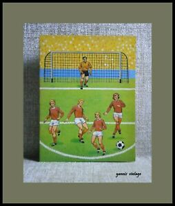 Soccer Football Paper Craft New Colour 8 Pages VTG 70s Rare Made in Belgium