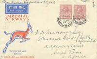 """GB 1932 maiden flight w Imperial Airways """"LONDON - CAPE TOWN"""", """"ALL UP"""" airmail"""