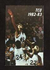 Texas Christian Horned Frogs--1982-83 Basketball Pocket Schedule--Kiwanis Club