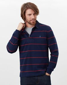 Joules Mens Onside Rugby Shirt - Navy Red Stripe - Xxl