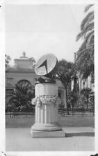 RPPC HAWAII SUN DIAL CLOCK REAL PHOTO POSTCARD (c. 1920)
