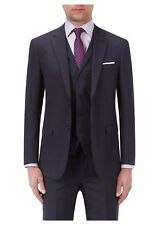 Robinson Tailored Fit Textured Check Wool Blend Suit Jacket 52R TD170 UU 04