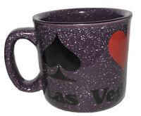 Purple Las Vegas Mug Poker Heart Spade Club Diamond