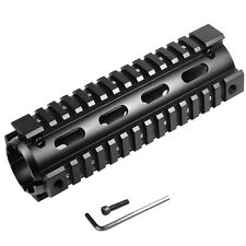 "6.7"" Quad 4 20mm Picatinny Rail Handguard Mount for Rifle Scope laser light Hunt"