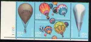 US. 2032-35. 20c. Balloons. PB4 #2221 LL. MNH. 1982