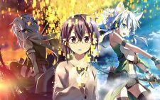 "Sword Art Online 2 Poster Kirito Asuna Sinon Anime Silk Posters 12x18"" SAO19"