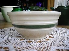 Vintage Watt Oven Ware Green Striped Mixing Bowl 6 ~