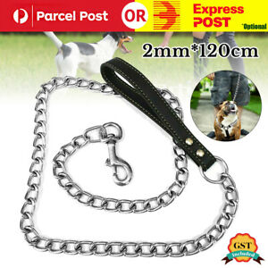 Heavy Duty Metal Chain Dog Lead With Handle Long Strong Control Leash 0.2*120cm