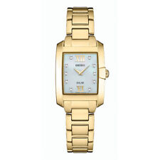 Seiko Women Solar with 10 Diamond Accents & Mother of Pearl Dial Watch SUP378