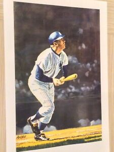 MICKEY MANTLE COLOR LIMITED EDITION ARTWORK BY AMORE NICE PRINT