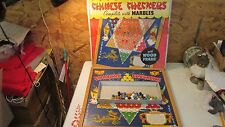 Antique Whitman Chinese Checkers & Marbles  OB