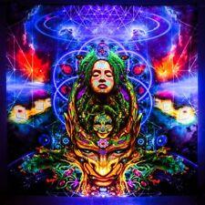 UV Decoration Psychedelic Art Backdrop Painting Wall Hanging Rave Psytrance Yoga