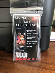 Ultra Pro TALL Penny Card Sleeves 1 Pack of 100 for cards up to 2.5 X 4.75
