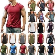 Men's Sport Muscle Vest/Tops Summer Sleeveless Fitness Tank Training Gym T-Shirt