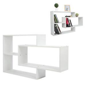 Wall‑Mounted Floating Shelf Modern Quadrangle Stand Display Rack Shelving 110CM