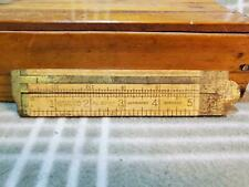 Antique Stanley No. 36 1/2 Brass Bound Boxwood Folding/Caliper Rule