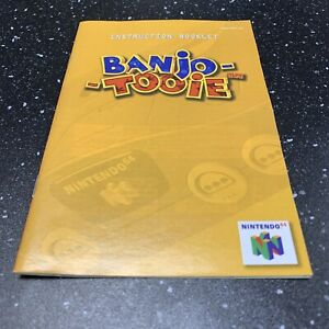 Banjo Tooie N64 Nintendo 64 Instruction Manual Booklet Only - Authentic -