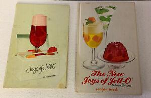2 Joys of Jello Cookbooks Book Vintage General Foods JELL-O Recipes